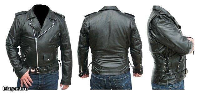 Мужская куртка из толстой кожи