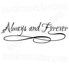 Always and Forever Quote Vinyl Wall Decal Lettering Bedroom Home Decor Design