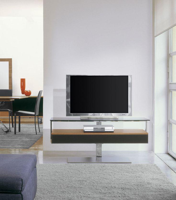Mobile TV moderno / girevole / in vetro / in acciaio - BIT - ANTONELLOITALIA