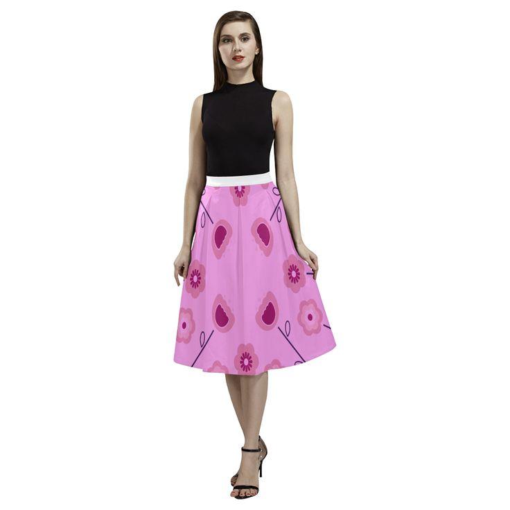 Designers long skirt : purple, white Aoede Crepe Skirt(Model D16).