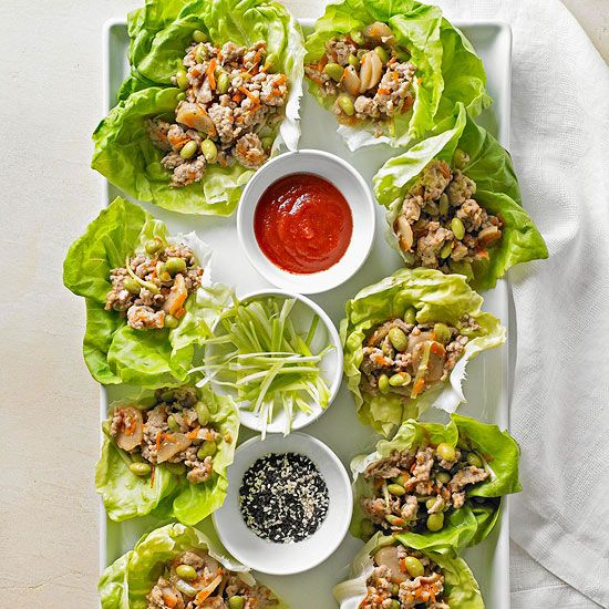 One of our favorite takeout meals that you can make at home! Asian Chicken Lettuce Wraps are a quick, easy, and healthy recipe that's low fat, low cholesterol, and includes a dose of veggies. Perfect for dinner or lunch!