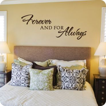 forever and for always in the bedroombedroom wallmaster bedroomsbedroom decorbedroom