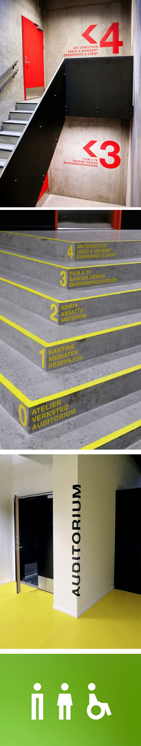 Wayfinding Westerdals - Icon design                                                                                                                                                                                 More