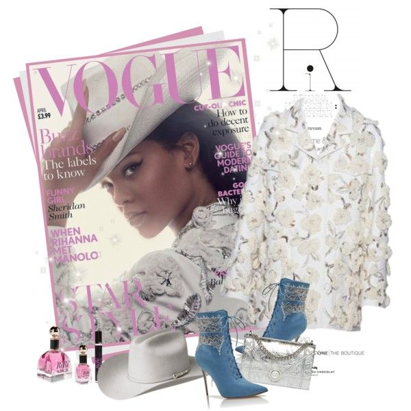 Rihanna covers Vogue in Dior SS 2016 by mrekulli on Polyvore featuring polyvore, fashion, style, Bailey Western, Manolo Blahnik and clothing