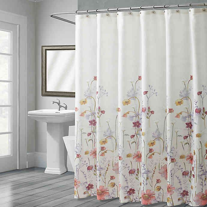 Croscill Pressed Flowers 72 Inch X 72 Inch Shower Curtain
