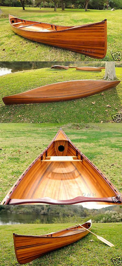Canoes 23800: Cedar Strip Canoe Wooden Boat 16 No Ribs Woodenboat Usa For Sale New -> BUY IT NOW ONLY: $3253.35 on eBay!
