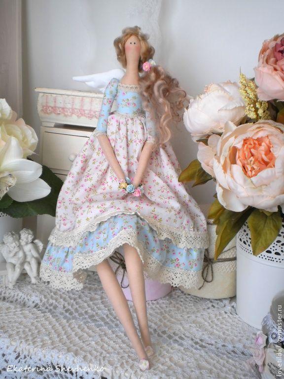 """Купить Ангел """"La provence"""" - кукла в стиле Тильда - бледно-розовый, ангел, ангел тильда ♡"""