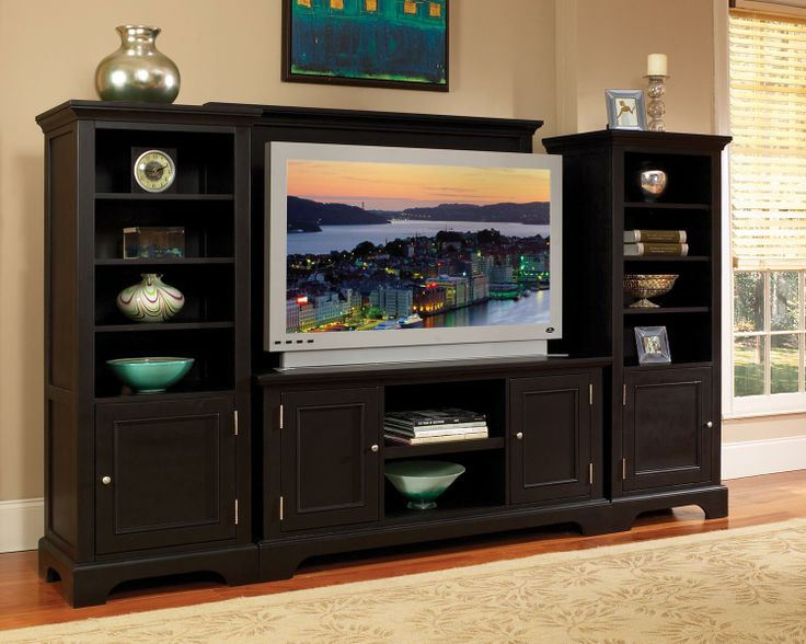 Something Like This For Living Area And TV Except Too Dark With The Floors We Want Ebony Finished Entertainment Center Two Four Shelf Piers A