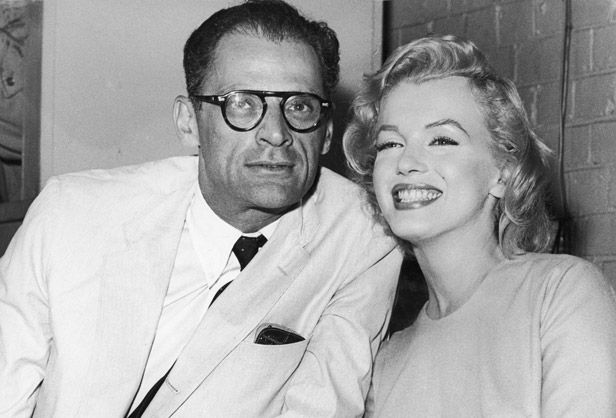 On June 25, 1956, playwright Arthur Miller married Hollywood starlet Marilyn Monroe. The unlikely couple faced a series of hardships, including Miller's investigation for communist sympathies, and Monroe's depression, miscarriages and drug use. They divorced in 1961.