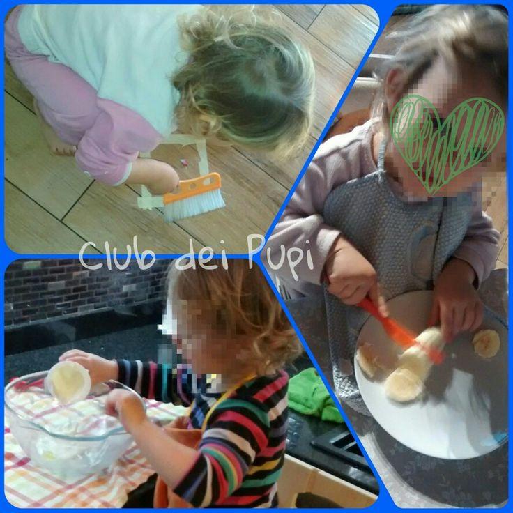 """""""Aiutarli ad imparare a camminare senza aiuto, a correre, a salire e scendere le scale, a rialzare oggetti caduti, a vestirsi e a spogliarsi, a lavarsi, a parlare per esprimere chiaramente i propri bisogni, a cercare con tentativi di giungere al soddisfacimento dei loro desideri, ecco l'educazione all'indipendenza.""""  Maria Montessori  """"La scoperta del bambino"""" #comeliberareilpotenzialedelvostrobambino #montessori #clubdeipupi #cartigliano #nidoinfamiglia #nidiinfamiglia"""