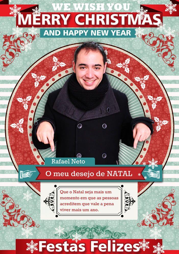 Neste Natal, partilha connosco o teu desejo de Natal!  Hoje partilhamos o desejo do Rafael Neto.