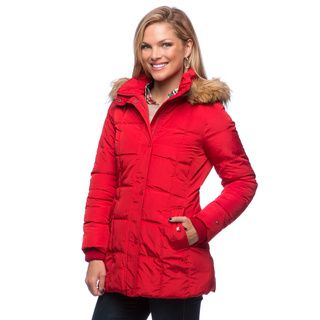 @Overstock - Tommy Hilfiger Faux Down Box Quilt And Faux Fur Hooded Coat - Stay warm in style with the Tommy Hilfiger faux down box quilt and faux fur hooded coat. This fully-lined jacket features a zipper closure, straight collar and two convenient front pockets to make this outwear both fashionable and functional.  http://www.overstock.com/Clothing-Shoes/Tommy-Hilfiger-Faux-Down-Box-Quilt-And-Faux-Fur-Hooded-Coat/9042819/product.html?CID=214117 $99.99