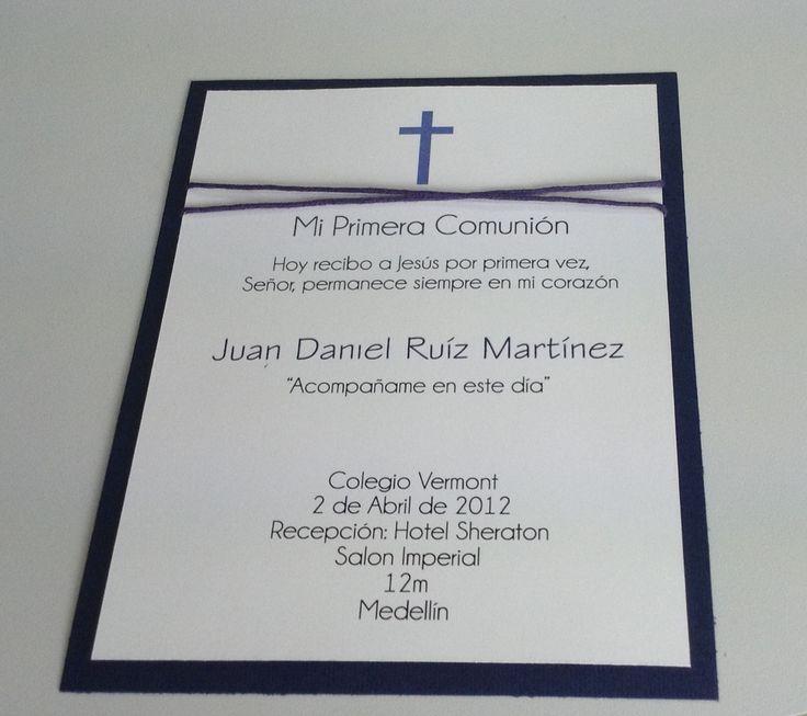 Primera Comunion Cards, invitacion, recordatorios