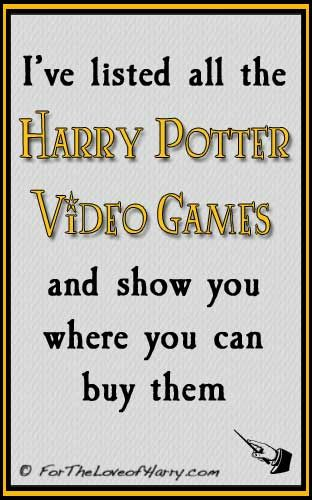 Harry Potter Video Games - This is a list of all the currently available video games based on the Harry Potter books and movies. #harrypotter #harrypottergames