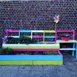 Urban Garden With Reclaimed Wood