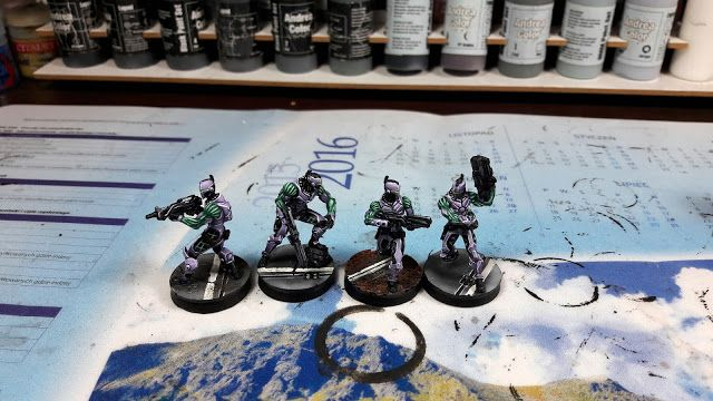 Black Brush Studio - Miniature painting services: Infinity - Aleph in Purple color scheme.