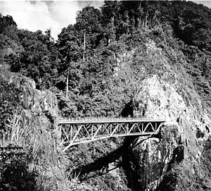 The Devil Bridge on South track of Mount Semeru, 1937