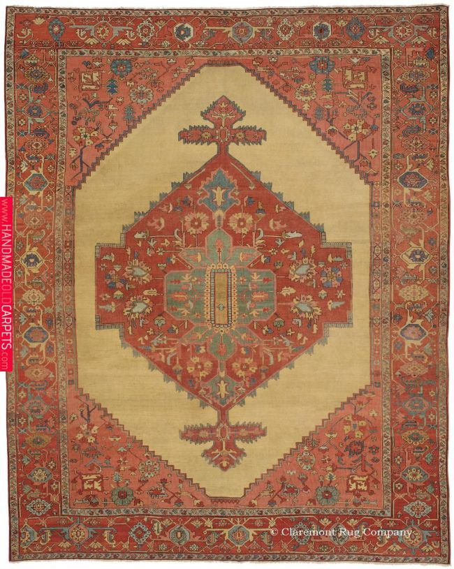Serapi Northwest Persian Sold 9ft 9in X 12ft 5in Circa 1850 Clearly The Product Of A Team Of Master Weavers With Extraordinar Tapestry Of Lif Claremont Rug Company Rugs Rugs On Carpet