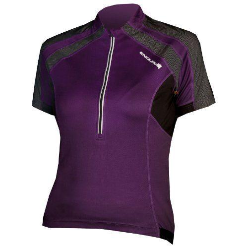 Endura Hummvee Short Sleeve Women's Jersey Purple, XS - http://ridingjerseys.com/endura-hummvee-short-sleeve-womens-jersey-purple-xs/