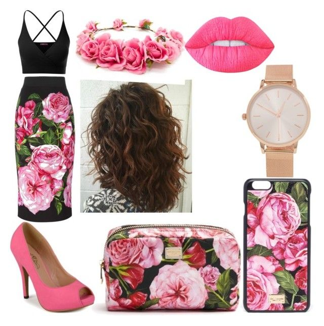 """Bubblegum Bitxh #1"" by raineingboties on Polyvore featuring Dolce&Gabbana, Doublju, Journee Collection, Forever 21, Lime Crime and Aéropostale"