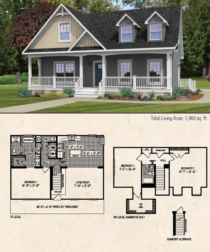 Country style cape cod home 1849 square feet this floor for Simple cape cod house plans