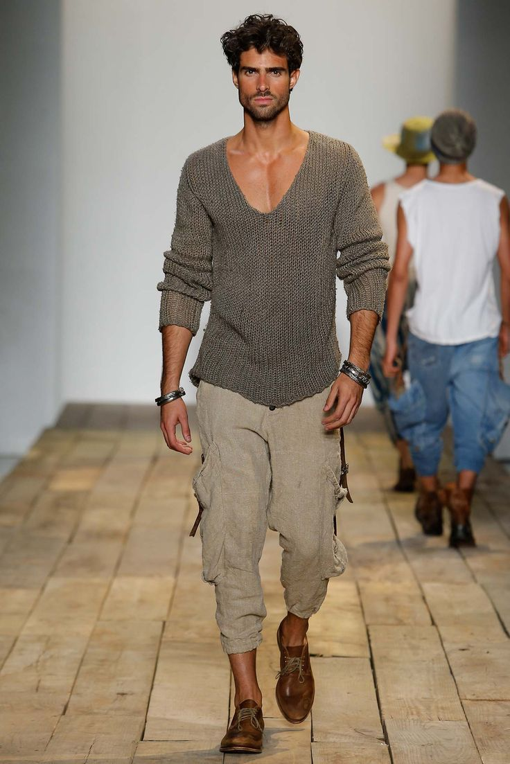 relaxed  brokenin  greg lauren spring 2016 menswear