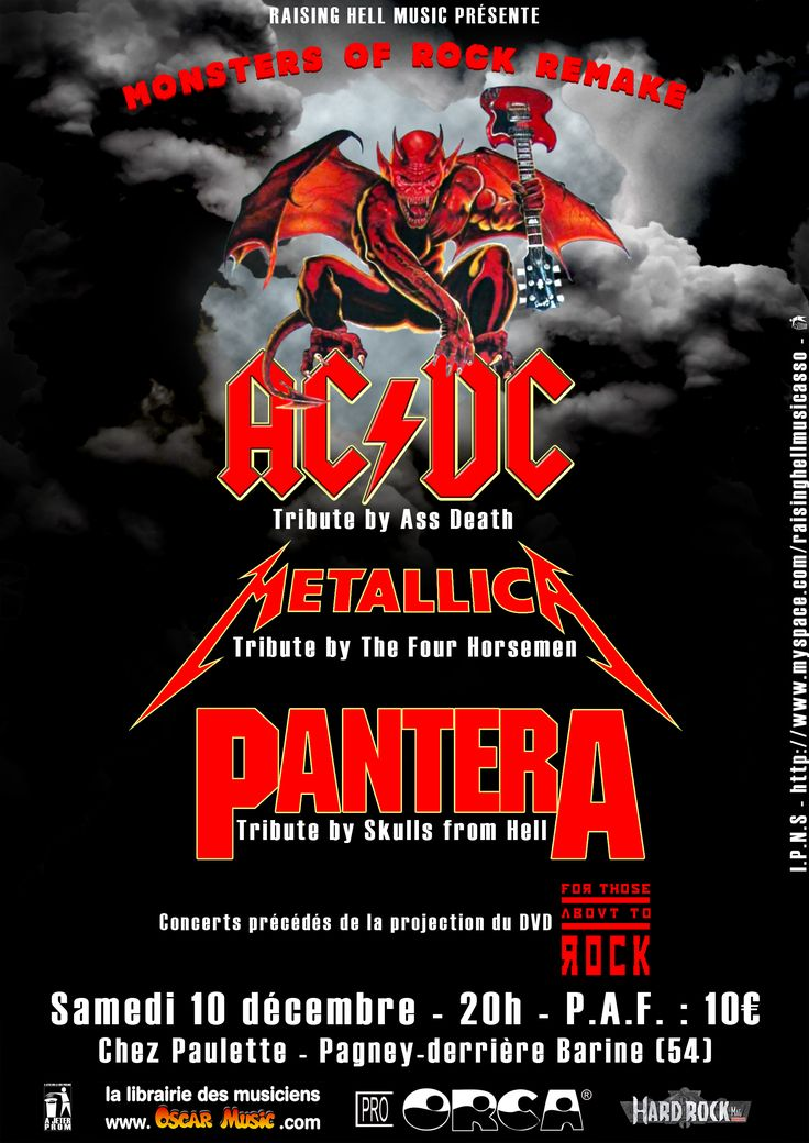 Monsters Of Rock Concert Posters Monsters Of Rock 91