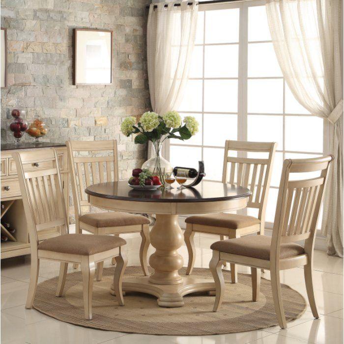 Pinnock 5 Piece Dining Set Round Wood Dining Table Round Dining Table Sets Round Dining Room
