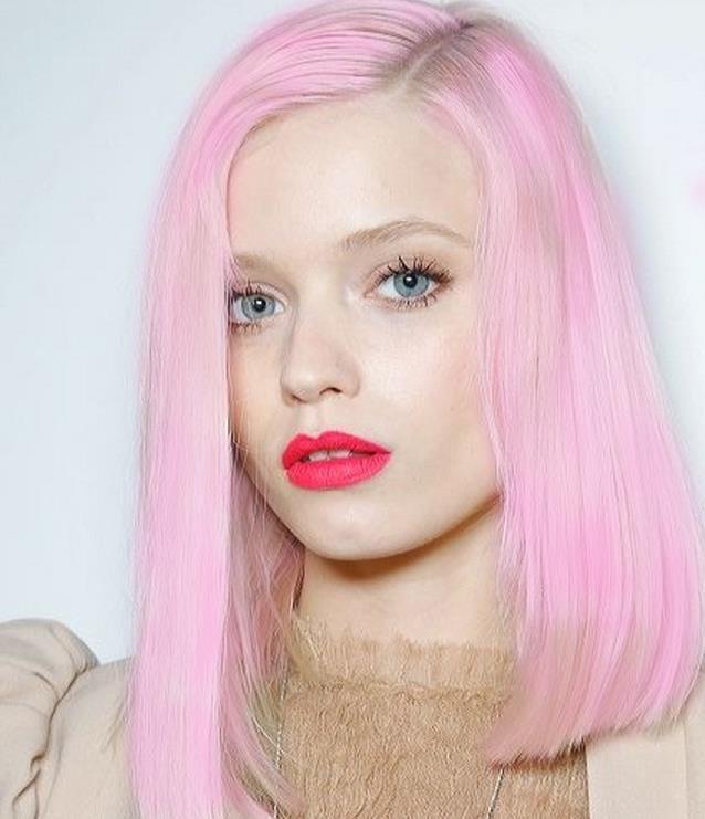 Pink!! Fairy floss.