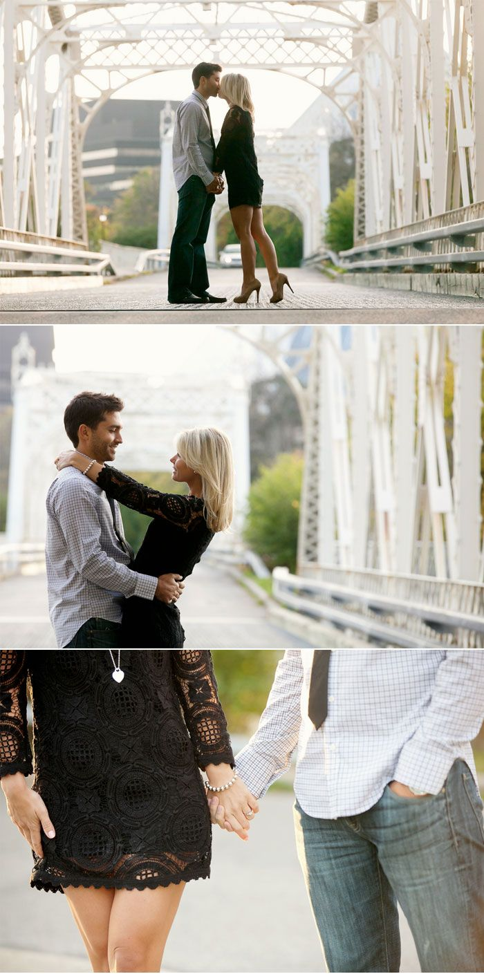 Elegant Fall Engagement Shoot. Love the dress!