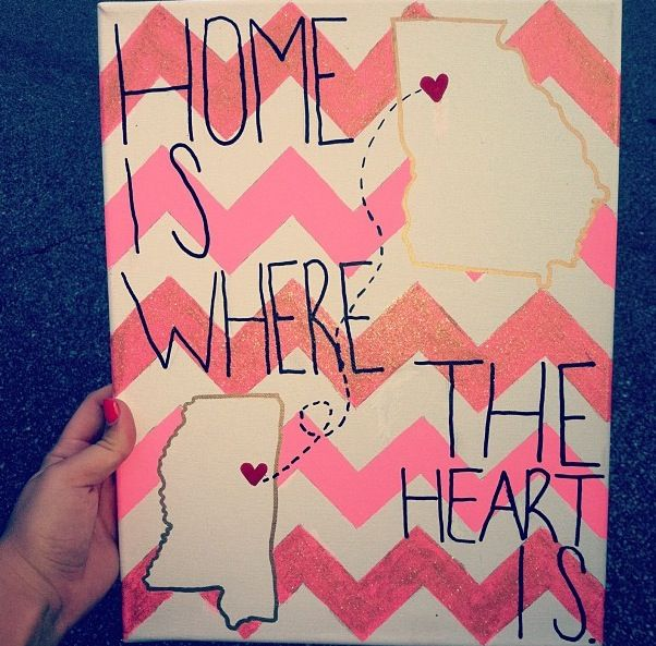 LOVE THIS! Maybe both roommates hometowns?
