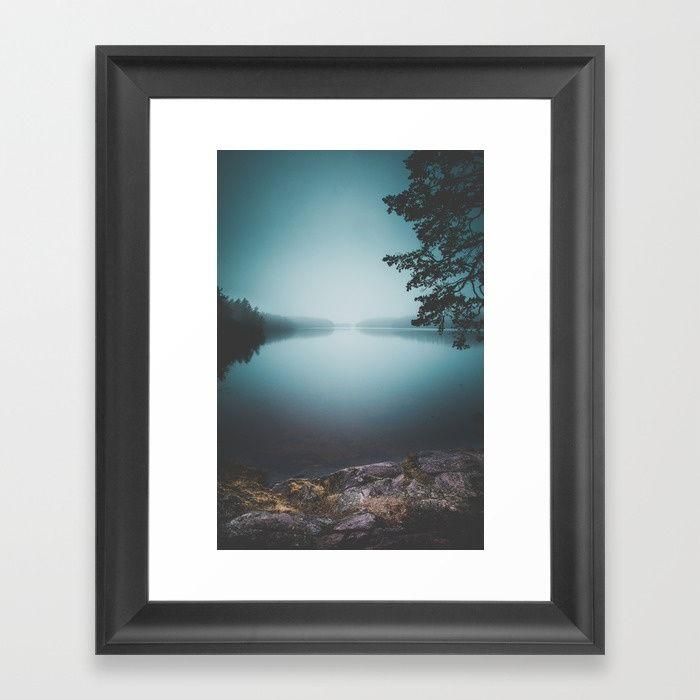 Lake insomnia Framed Art Print by HappyMelvin | Society6