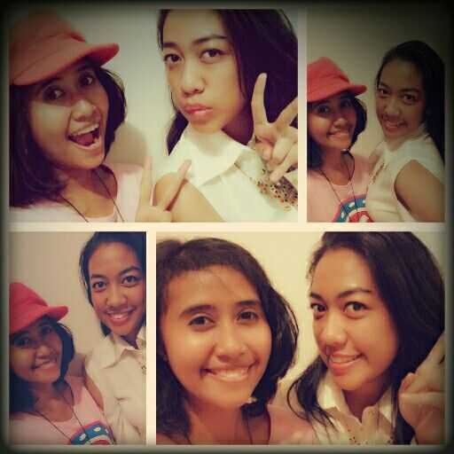 Me and Sasa,,, for the 1st time me took photos using a hat ..