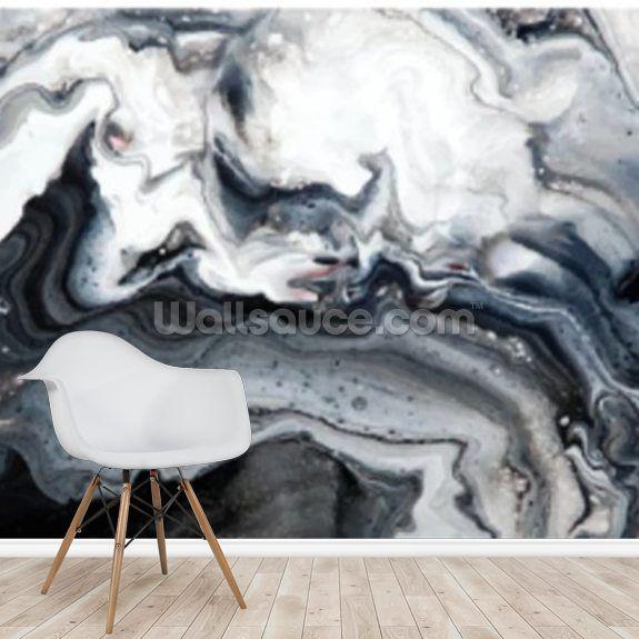 Abstract Marble Blacks Wallpaper Mural Wallsauce Uk Marble Black Wallpaper Marble Wall Mural Marble Effect Wallpaper