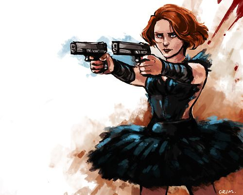 Crimson-sun: Comic-verse Black Widow was a professional ballerina, which is all sorts of awesome.