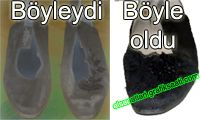 Eski kadın ayakkabısı yenileme ve ayakkabı süsleme