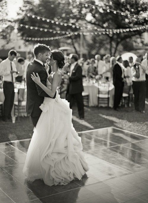 17 best images about at home wedding ideas on pinterest for Outdoor dance floor ideas