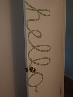 DIY fun idea using contact paper — this could be fun to do using your name for the door to your room.