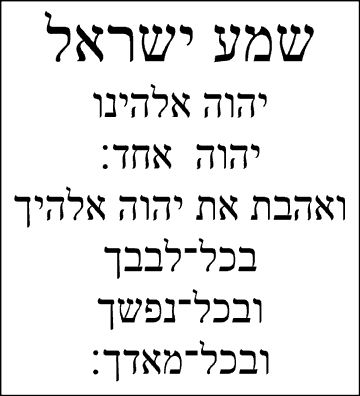 What Are the Words to the Shema Prayer? | Reference.com