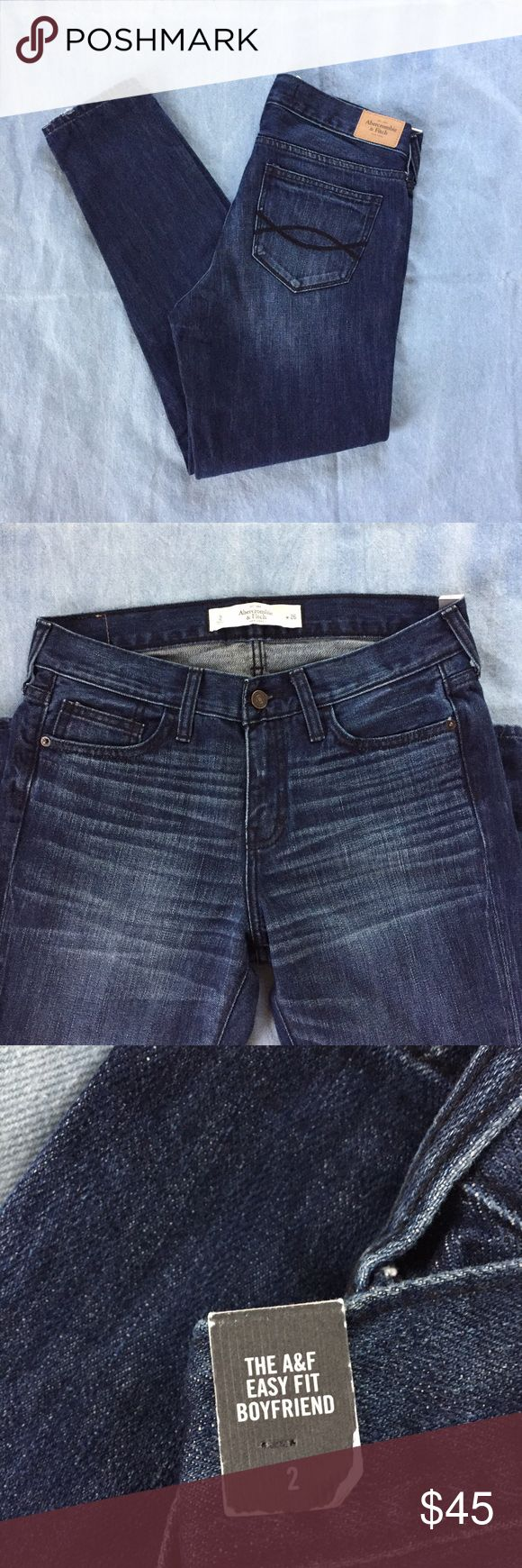 "Abercrombie & Fitch Relaxed Boyfriend Jeans These are brand new and in perfect condition.       Measurements:                                                                30"" Waist 37"" Length 27"" Inseam 6.5"" Rise 5"" Leg Opening Abercrombie & Fitch Jeans Boyfriend"