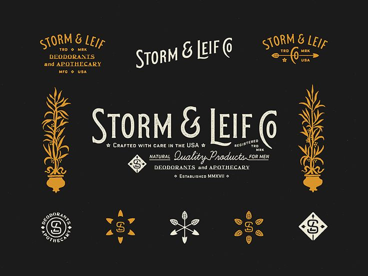 Brand elements for Storm & Leif Co