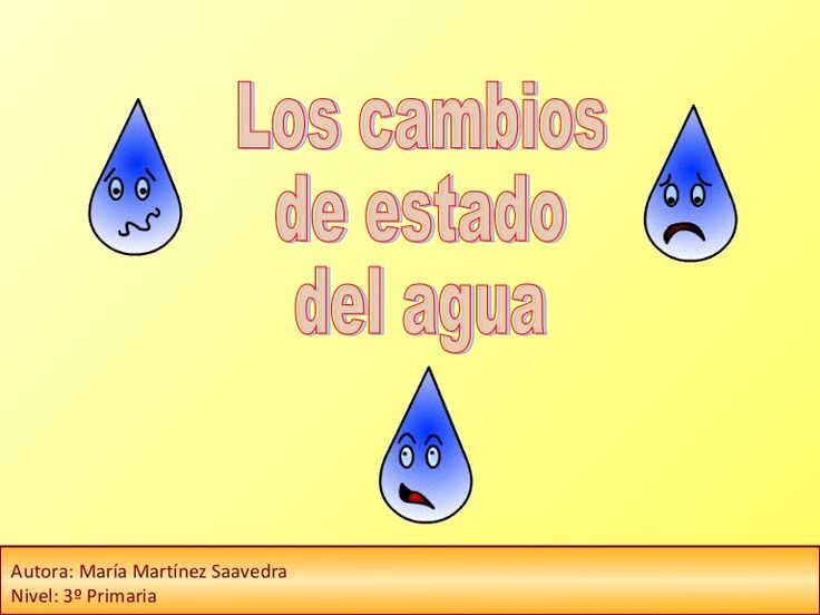 Presentación en power point de los cambios de estado del agua: solidificación, fusión, condensación y evaporación.