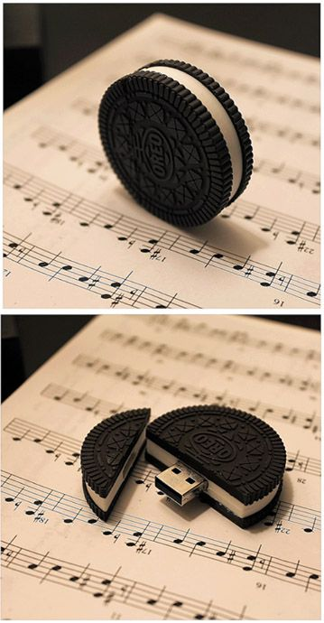 MEMORY USB STICK in form of an Oreo cookie. Search results for providers (where you can get them) of such Promotional/customized MEMORY STICKS/USB Drives/plugin drives/Flash Drives: http://shopads.whw1.com/?q=promotional+memory+sticks Everything from cute, to crazy, to unbelievable and awesome BUSINESS GIFTS by providers of search results.