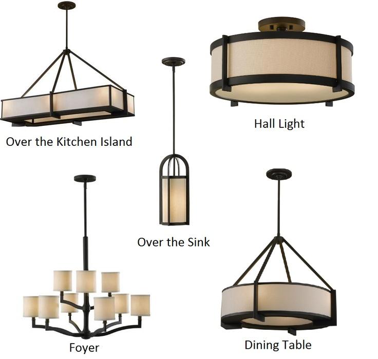 Rustic Light Fixtures, Craftsman Lighting Dining Room Chandelier