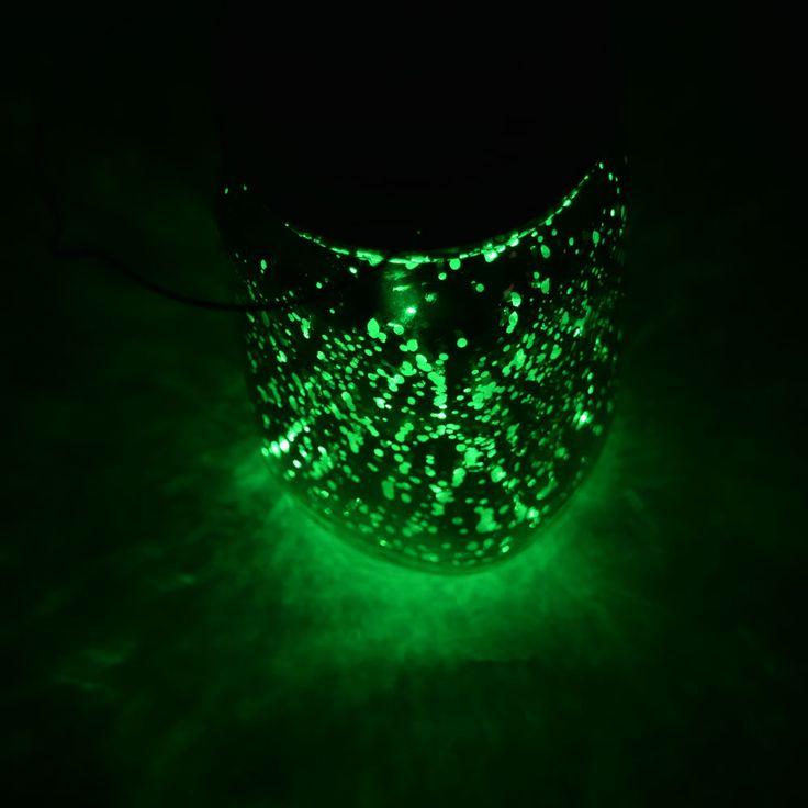 great halloween lights decoration idea use our mason jar light in green to illuminate a