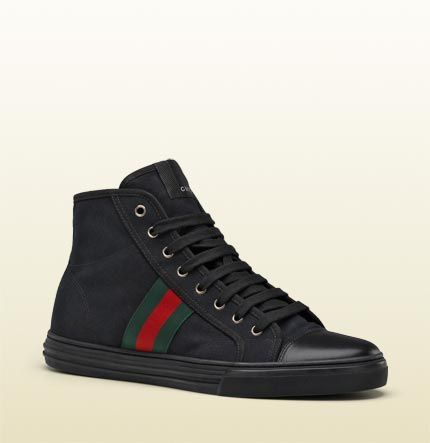 hi-top lace-up sneaker with signature web detail.
