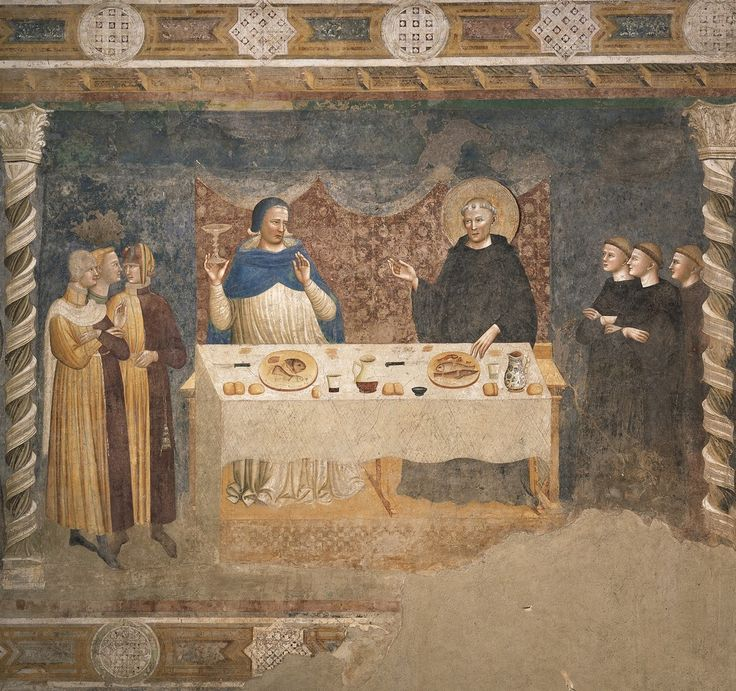 Пьетро да Римини. Росписи трапезной аббатства Помпоза (Феррара), 1316-1320 гг. 3