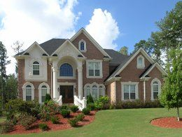 luxury homes exterior brick