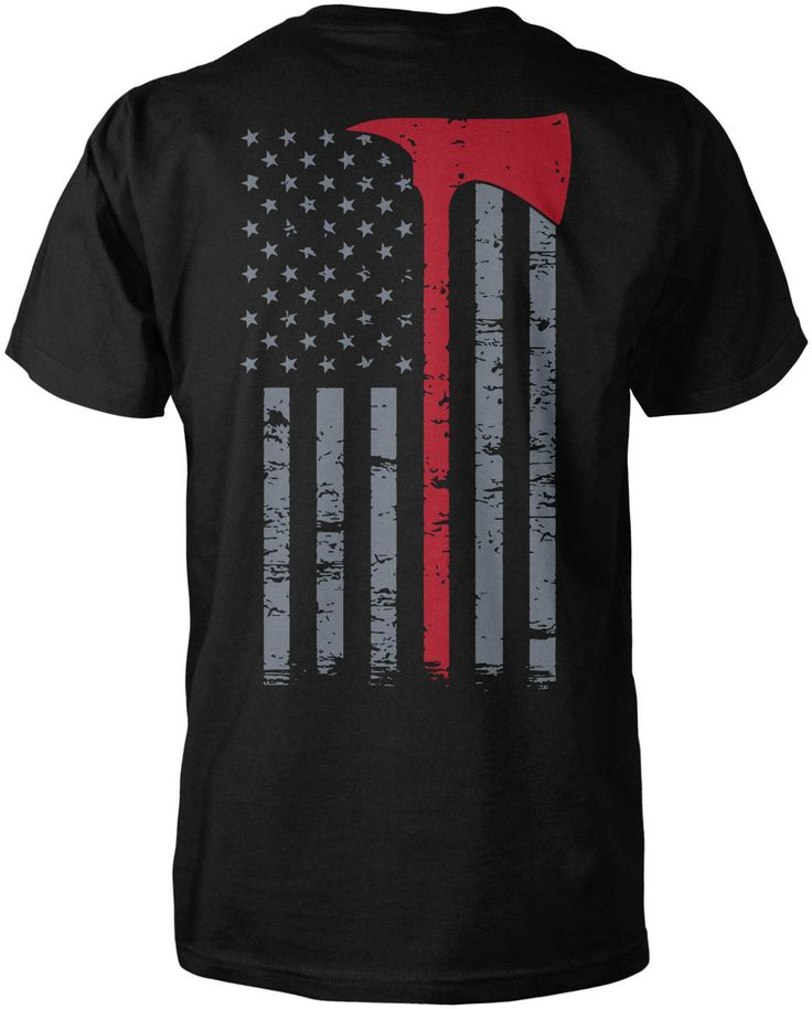 Firefighter Thin Red Line (Back Print) The perfect t-shirt for any proud firefighter. Order yours now! Please note: design is printed on the back of the garment. If you would like a front version, ple