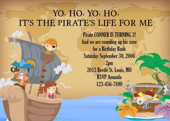 Boys Pirate Printable Birthday Party by CozyRedHouseCreation, $7.50